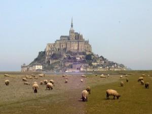 モンサンミッシェルと同じ羊がシャルル・ド・ゴール空港に。