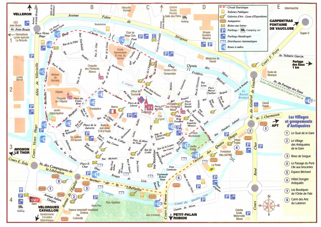 リルの観光案内マップ